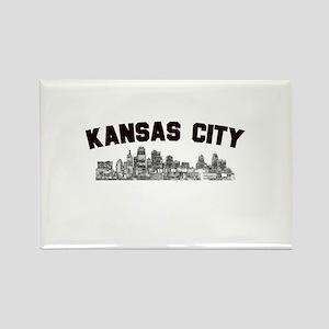 Kansas Cioty Skyline Rectangle Magnet