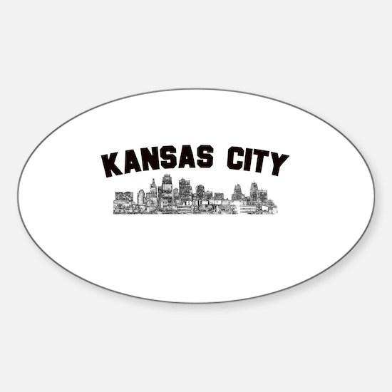 Kansas Cioty Skyline Oval Decal