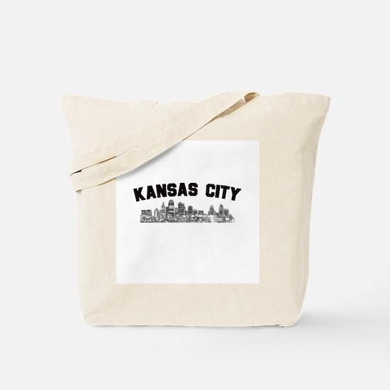 Kansas Cioty Skyline Tote Bag