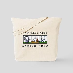 Garden Westies Tote Bag