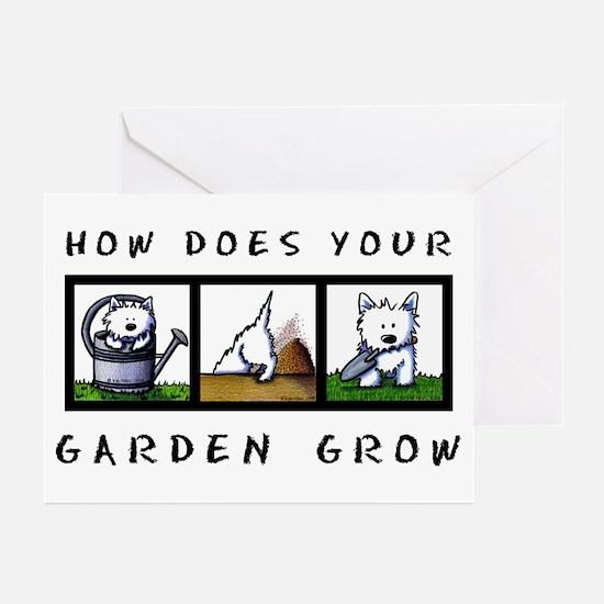 Garden Westies Greeting Cards (Pk of 10)