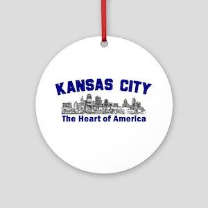 Kansas City . . . The Heart o Ornament (Round)