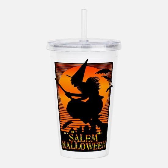 Halloween Salem Witch Acrylic Double-wall Tumbler