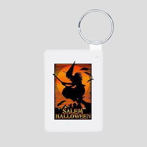 Halloween Salem Witch Aluminum Photo Keychain