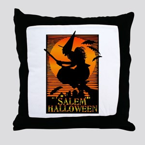 Halloween Salem Witch Throw Pillow