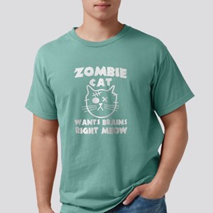 Zombie cat wants brains right meow T-Shirt