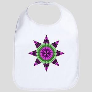 Native Purple Star Bib
