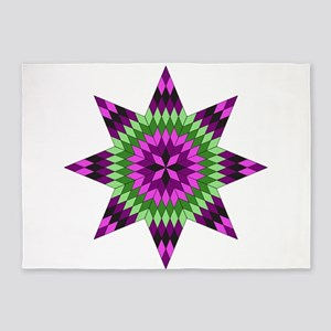 Native Purple Star 5'x7'Area Rug