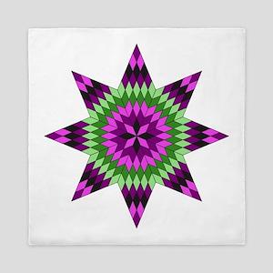 Native Purple Star Queen Duvet