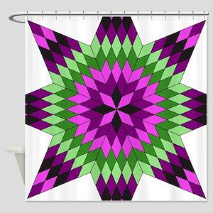 Native Purple Star Shower Curtain