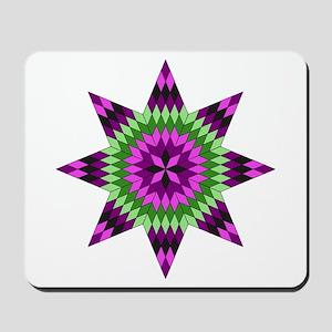 Native Purple Star Mousepad