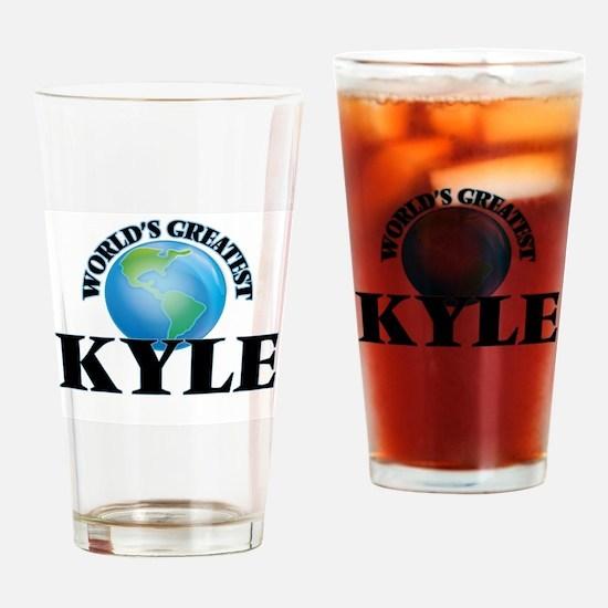 World's Greatest Kyle Drinking Glass
