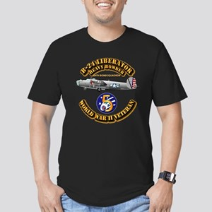 AAC - 43rd BG - 64th B Men's Fitted T-Shirt (dark)