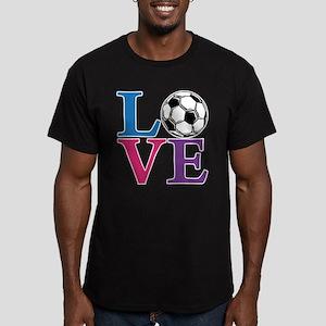 Soccer LOVE Men's Fitted T-Shirt (dark)