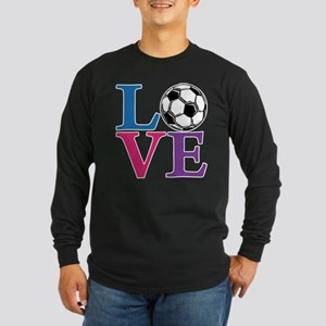 Soccer LOVE Long Sleeve Dark T-Shirt