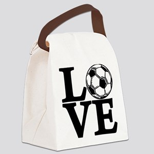 Soccer LOVE Canvas Lunch Bag