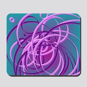 Tangled purple circles Mousepad