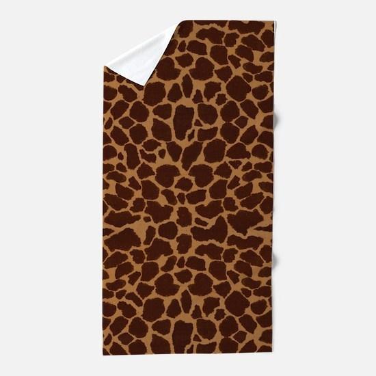 Giraffe Skin Patter Beach Towel