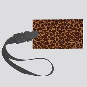 Giraffe Skin Patter Large Luggage Tag