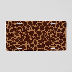 Giraffe Skin Patter Aluminum License Plate