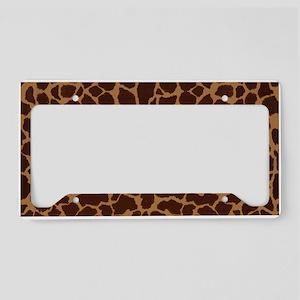Giraffe Skin Patter License Plate Holder