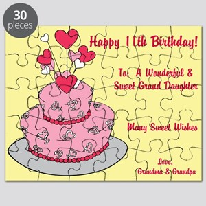 Happy 11th Birthday Card Puzzle