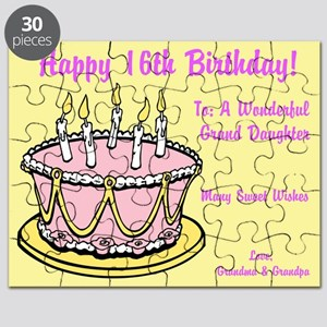 Happy 16th Birthday Card Puzzle