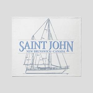 St. John NB - Throw Blanket