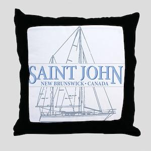 St. John NB - Throw Pillow