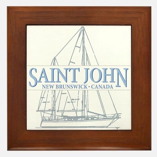 St. John NB - Framed Tile