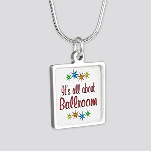 About Ballroom Silver Square Necklace