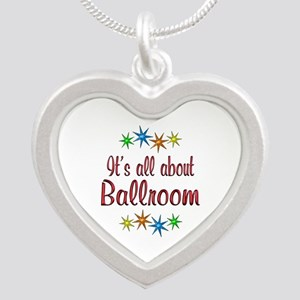 About Ballroom Silver Heart Necklace