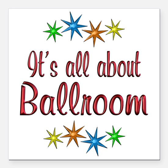 "About Ballroom Square Car Magnet 3"" x 3"""