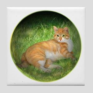 Tabby Dream Tile Coaster