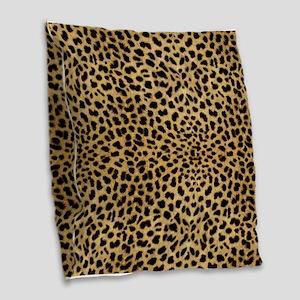Leopard Skin Pattern Burlap Throw Pillow