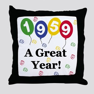 1959 A Great Year Throw Pillow