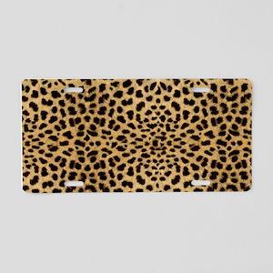 Leopard Skin Pattern Aluminum License Plate