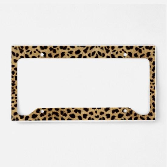 Leopard Skin Pattern License Plate Holder