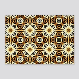 Trendy Chic Faux Leopard 5'x7'Area Rug