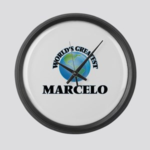 World's Greatest Marcelo Large Wall Clock