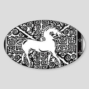Han Horse Sticker (Oval)