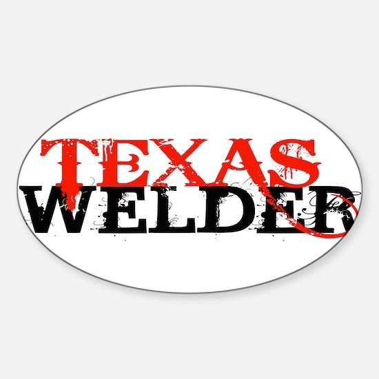Texas rig welder Sticker (Oval)