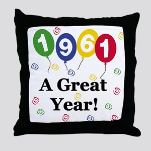 1961 A Great Year Throw Pillow