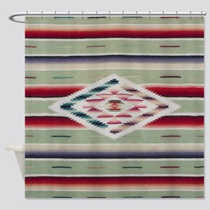 Southwest Serape Weaving Shower Curtain