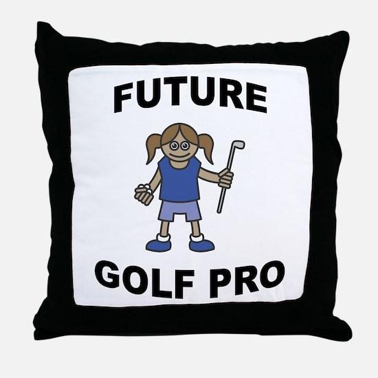 Future Golf Pro (Girl) Throw Pillow