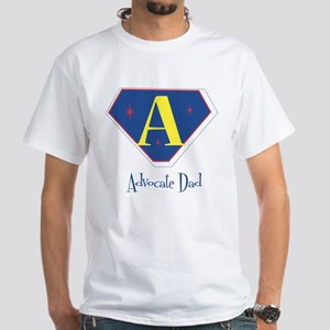 Advocate Dad (primary colors) White T-Shirt