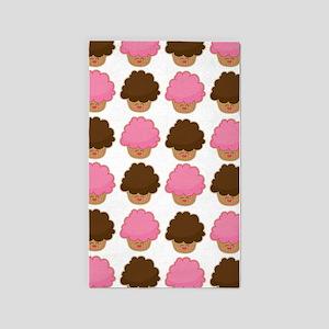 Cupcake Lover adorable 3'x5' Area Rug