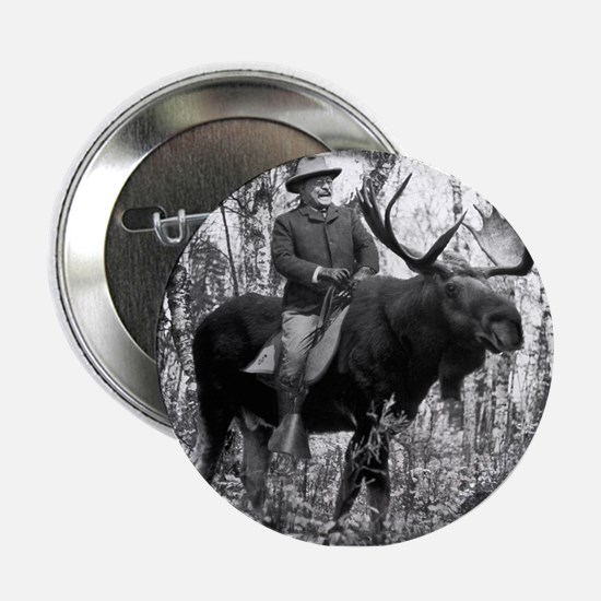 """Teddy Roosevelt on Bullmoose 2.25"""" Button (10 pack"""