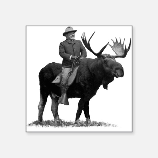 Teddy Roosevelt on Bullmoose Sticker