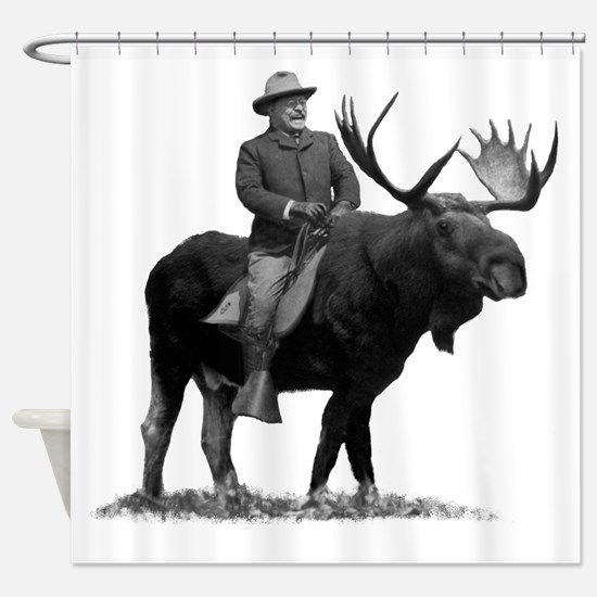 Teddy Roosevelt On Bullmoose Shower Curtain